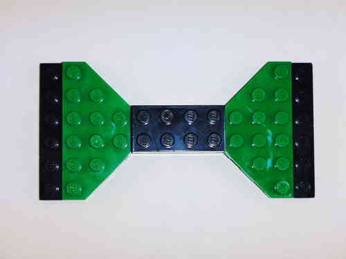 BrickCrafts LEGO® Magnetic Bow Tie with Black Brick Center