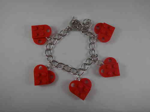 BrickCrafts LEGO® Fashion Heart Charm Bracelet